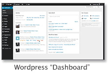 A thumbnail image of the WordPress dashboard