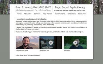 Psychotherapist Brien Wood