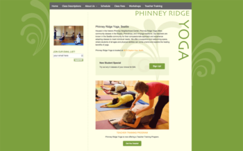 Custom WordPress for Yoga Studio
