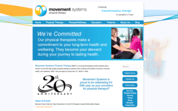 Custom WordPress for Physical Therapist